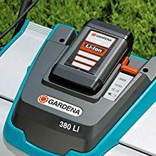 GARDENA 4025-20 - Cortacésped hélicoidal con batería 380 Li Batería de Lítio iónico: 25V, 3,2 Ah. Ancho de corte: 38 cm. Peso. 14 kg aprox. Aconsejada ...