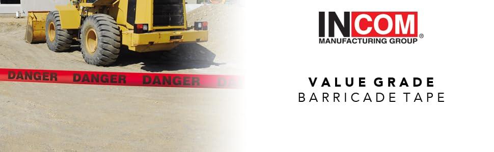 Value Grade Barricade Tape, Barricade Tape, Danger Tape, Value Barricade Tape, Caution Tape