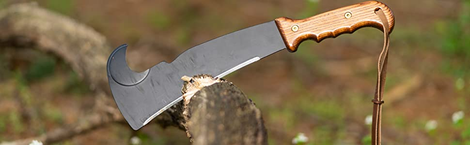 Woodman's Pal machete chopping branch multi use outdoor tool garden axe shovel