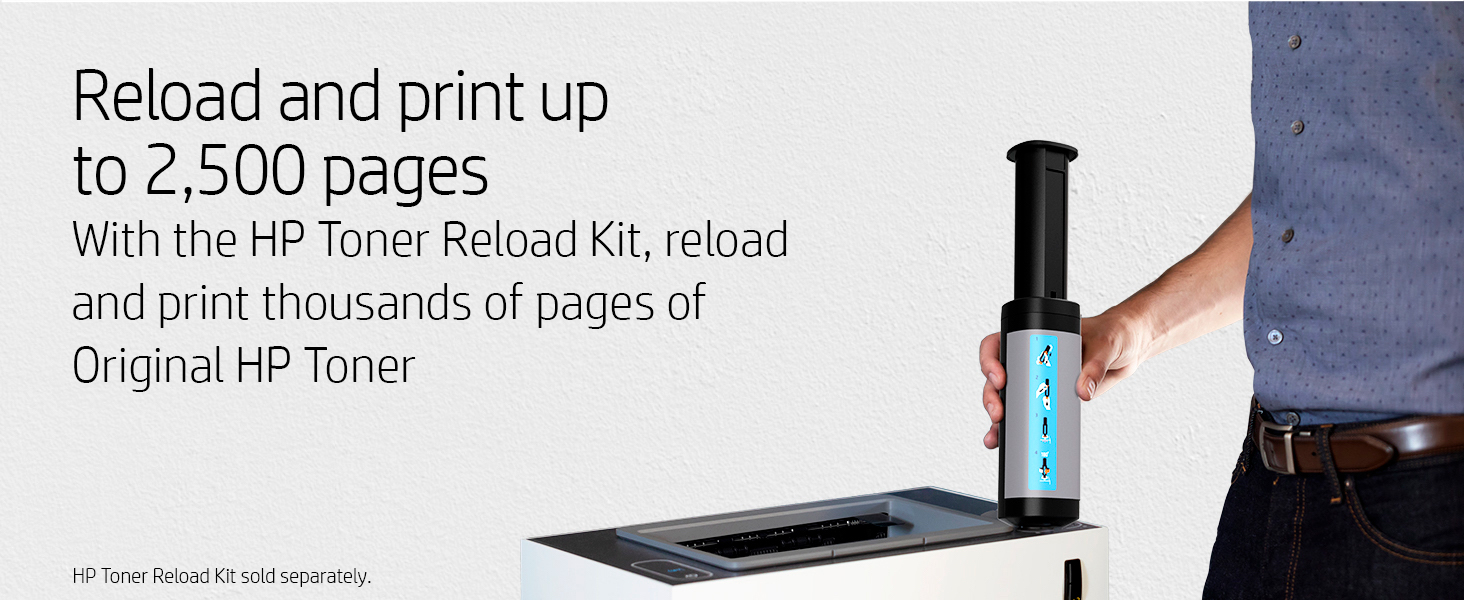 hp neverstop toner reload kit original hp supplies easy refill and print