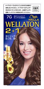 「Wellaton ウエラトーンツープラスワン液状(ジェル)タイプ」のパッケージ。 色はブルー。美しい髪色の外国人女性が微笑んでいる。