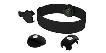 Polar OH1+ Bluetooth y ANT+. Sensor de pulso óptico resistente al agua con clip para gafas de natación y brazalete - Gris