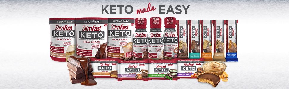 keto powders bars snacks meal replacement slimfast