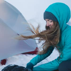 630a724ad6 Ice Breaker Women's Hyperia Lite Hybrid Hooded Jacket Down-Outerwear ...