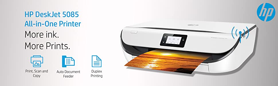 HP DeskJet 5085 All-in-One Ink Advantage Wireless Colour Printer with Duplex Printing
