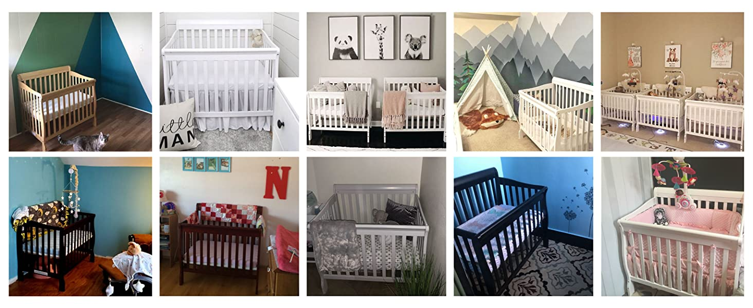 Aden mini crib, Dream on me, Convertible crib, twin beds baby beds gender neutral nursery
