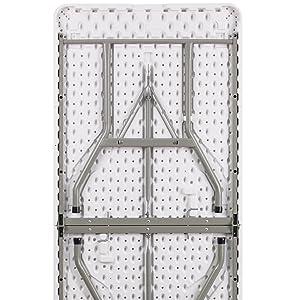 commercial grade white plastic folding table