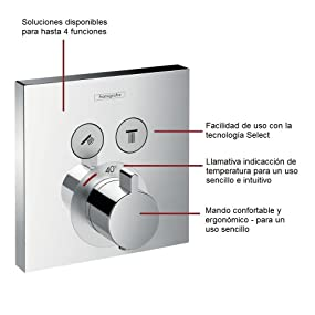 1 salida Hansgrohe 15757000 Ecostat S termostato empotrado cromo
