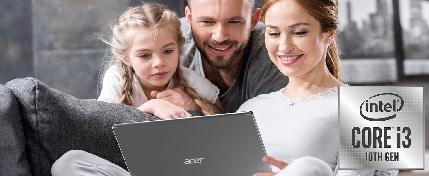 """Amazon.com: Acer Aspire 5 Slim Laptop, 15.6"""" Full HD IPS Display, 10th Gen Intel Core i3-10110U, 4GB DDR4, 128GB PCIe NVMe SSD, Intel Wi-Fi 6 AX201 802.11ax, Backlit KB, Windows 10 in"""
