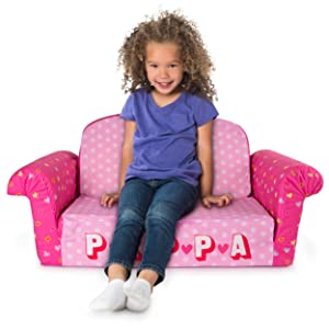 Marshmallow Furniture   Flip Open Foam Sofa