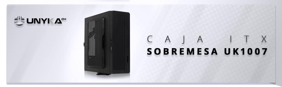 CAJA ORDENADOR SOBREMESA ITX COMPACTA VESA PC PROFESIONAL USB 3.0 CARDREADER 150W SSD UNYKA BARATA