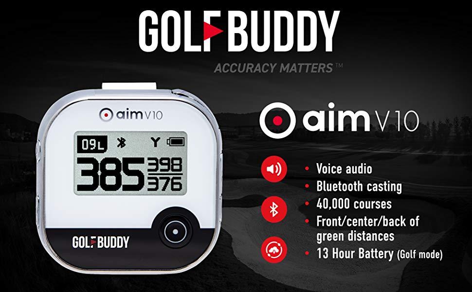 GOLFBUDDY, aim V10, Talking, Golf GPS, Rangefinder, GPS Rangefinder, Golf Gear, Golf Electronics