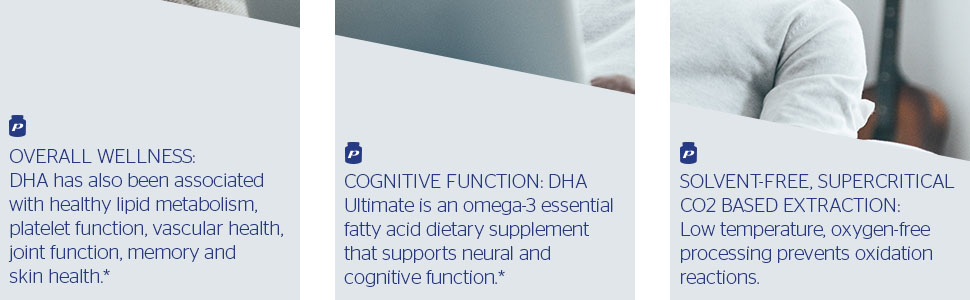 Pure Encapsulations - DHA Ultimate - Supercritical CO2 Extracted DHA Fish Oil
