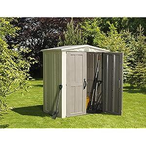 Keter - Caseta de jardín exterior Factor 6x3 con escuadra incluida ...