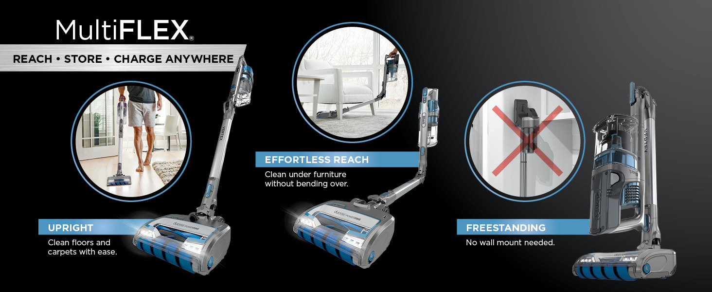 multiflex, upright cleaning, effortless reach, free standing, above floor cleaning, overhead
