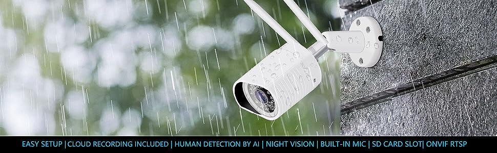 водоустойчива охранителна камера за откриване на хора