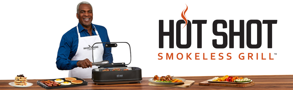 Amazon.com: Hot Shot - Parrilla eléctrica sin humo para ...