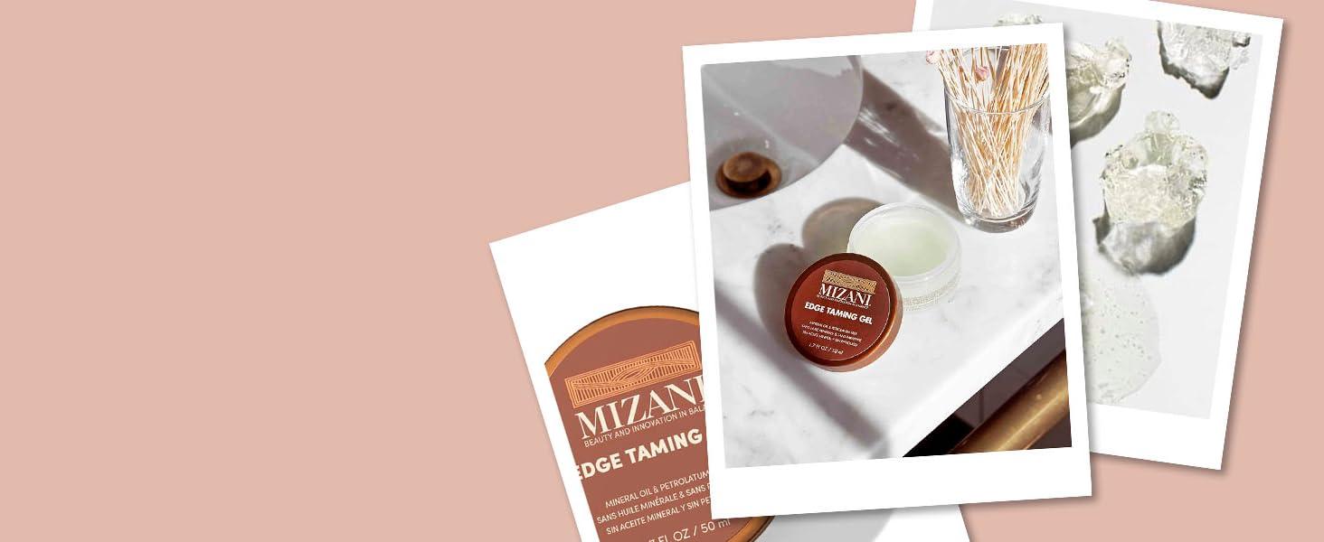 mizani styling edge taming gel controls flyaway hair medium hold