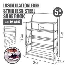 HOUZE-4 Tier Installation Stainless Steel Shoe Rack : Rustproof, Moisture-resistant and eco-friendly