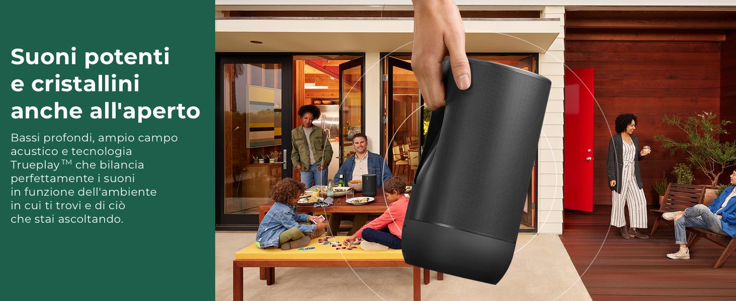 Sonos Move lo Smart Speaker da Outdoor, Alimentato a Batteria per ...
