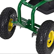 Amazoncom Best Choice Products Garden Cart Rolling Work Seat