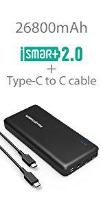 Xtreme 26800mAh External Battery Charger & 30W Type-C