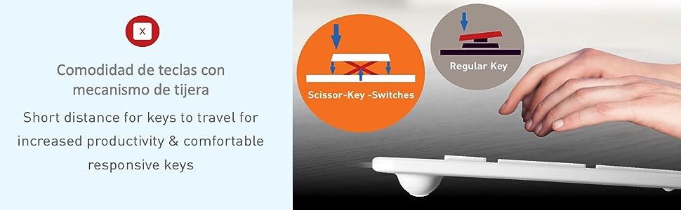 Scissor Key Comfort