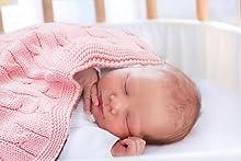 nursery receiving blanket, toddler blanket, nursery blanket, knitted blanket