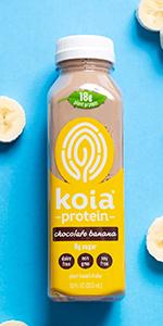 koia chocolate banana plant based protein shake dairy free drink