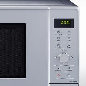 Panasonic NN-GD36H - Microondas con Grill (1000 W, 23 L, 6 niveles ...