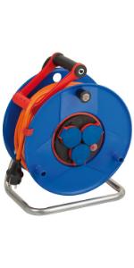 Brennenstuhl Garant Ip44 Kabeltrommel 25m Kabel In Orange Spezialkunststoff Einsatz Im Außenbereich Made In Germany Baumarkt