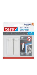 tesa 1 Clavo Adhesivo para Lienzo, Blanco, Talla Única: Amazon.es: Bricolaje y herramientas
