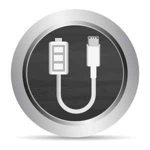 The USB-C charging port allows you to connect your original USB-C charger