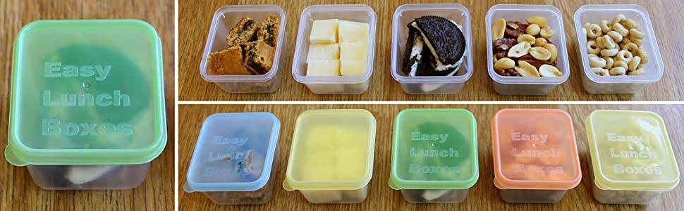 easylunchboxes, mini dipper, container, small, leakproof, bento, snacks, portion control