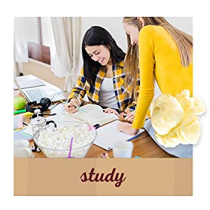 Study with Orville Redenbacher's natural popcorn – light evening snacks