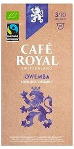 Café Royal Nespresso* kompatible Kapseln - Bio/Organic Owemba