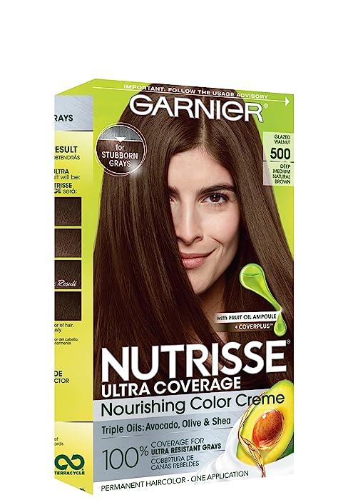 Amazon Com Garnier Nutrisse Nourishing Hair Color Creme 30 Darkest Brown Sweet Cola Packaging May Vary Chemical Hair Dyes Beauty