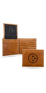 wallet,mens wallet,wallet for women,wallet for men,leather wallet,NFL, Steelers, Pittsburgh Steelers
