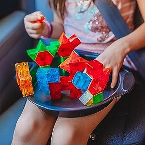 Magna-Qubix magnetic building blocks travel plane