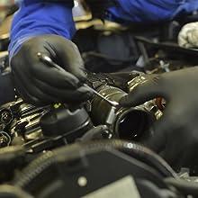 Dark Light Nitrile textured Disposable Gloves Auto Mechanic
