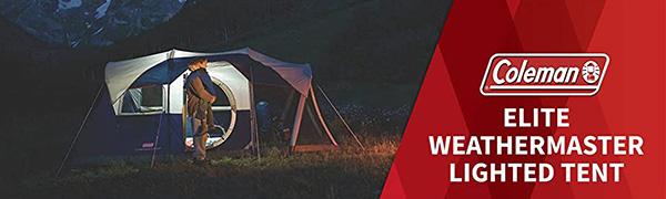elite weathermaster lighted tent