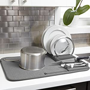Amazon.com: Umbra UDRY Dish Drying Rack and Microfiber