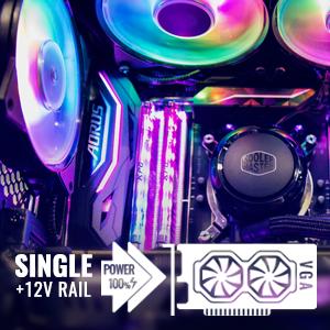 single +12v rail power cooler master vga