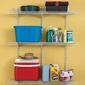 ClosetMaid ShelfTrack 4ft. Adjustable Organizer Kit, White