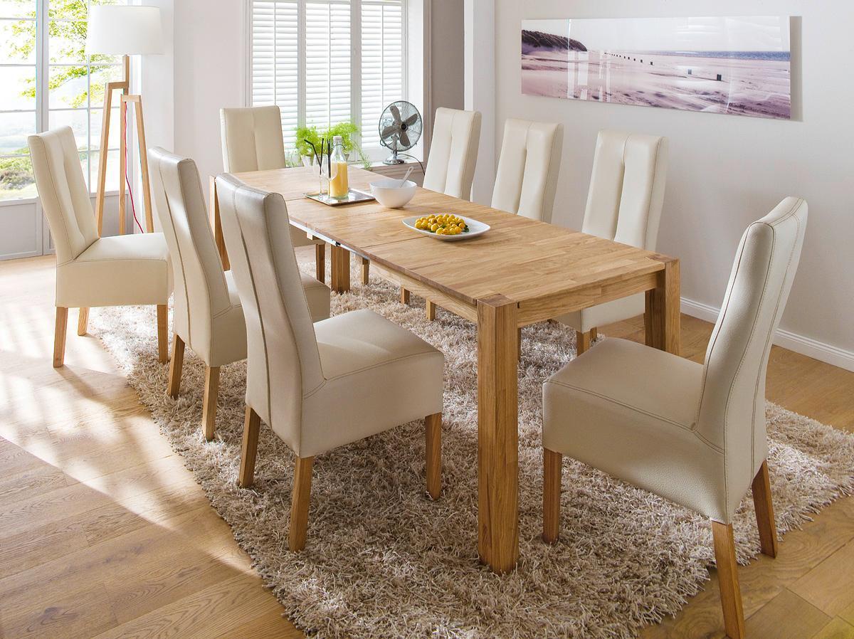 robas lund tisch esszimmertisch franz eiche massivholz ausziehbar 140 x 80 x 76cm. Black Bedroom Furniture Sets. Home Design Ideas