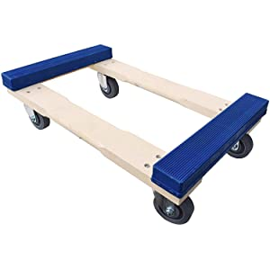 """Heavy Duty Moving Dolly with Blue Rubber Caps, 18"""" x 30"""""""