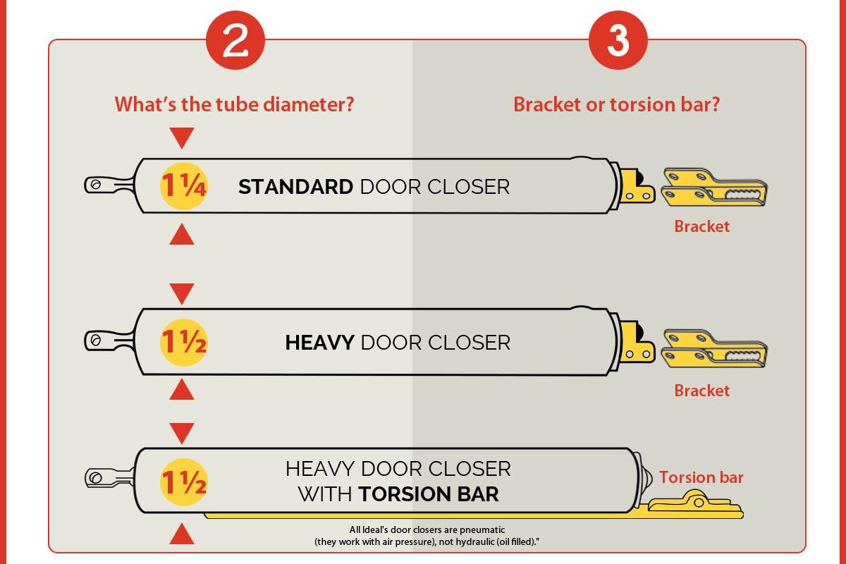 Ideal Security Sk1730 Pneumatic Closer For Heavy Storm Doors 15