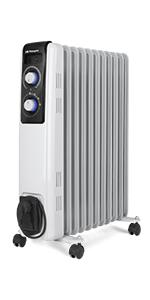 Orbegozo RF 2000 Radiador de aceite, 2000W de potencia, construcción modular de 9 elementos y diseño en color blanco: Amazon.es: Hogar