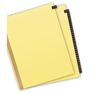 Avery Pre-printed Dividers with JANUARY-DECEMBER Labeled Tabs 11307 8.5 x 11