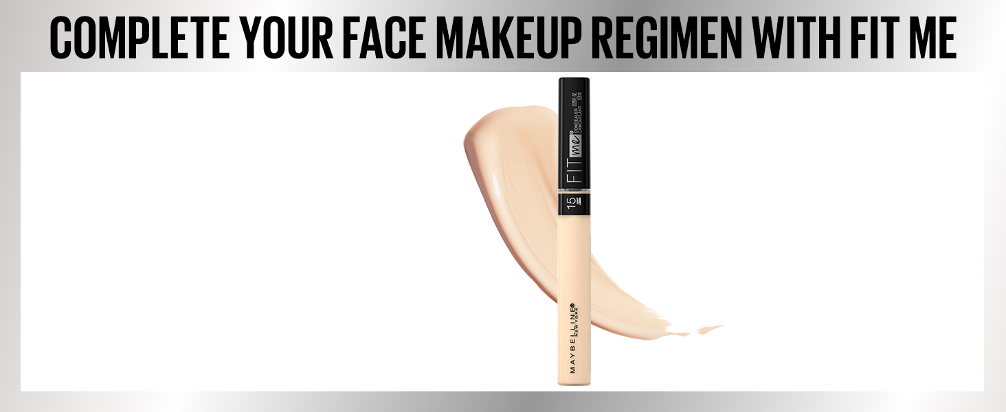 complete your face makeup regimen with fitme, face makeup, makeup, liquid concealer, concealer